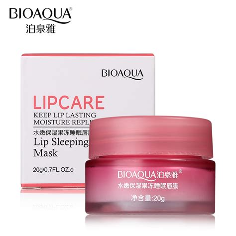 Bioaqua Lip Mask Masker Bibir Bioaqua bioaqua strawberry lip sleeping mask 20g galaxy