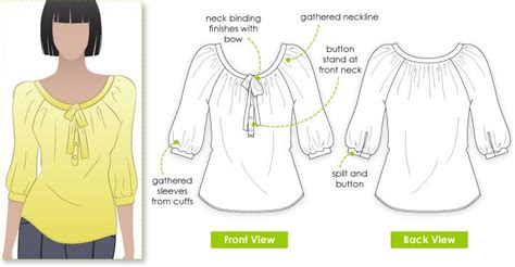 pattern making of blouse stylearc katherine blouse