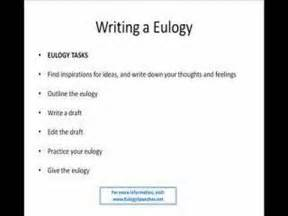 how to write eulogy speeches for eulogies and funeral