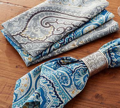 beales rugs beale paisley napkin set of 4 pottery barn