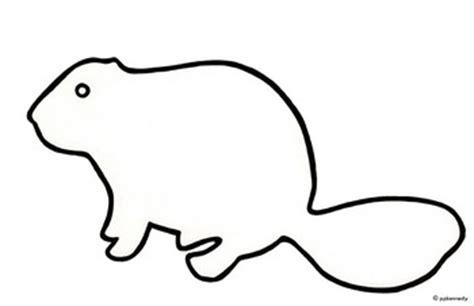 beaver template squirrel shadow clipart