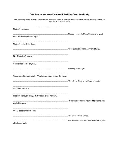We Remember Your Childhood Well Essay by We Remember Your Childhood Well Lesson Pp By Uk Teaching Resources Tes