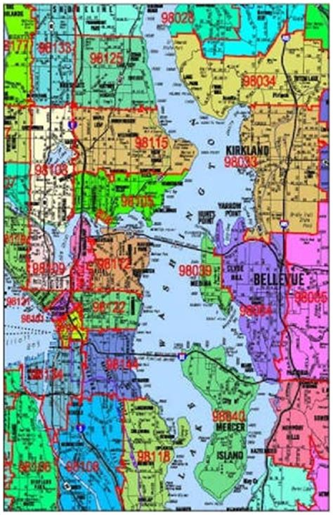 seattle map with zip codes seattle zip code map fascinating maps and infographics