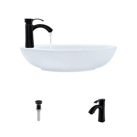 mr direct sinks and faucets mr direct porcelain vessel in white with 725 faucet