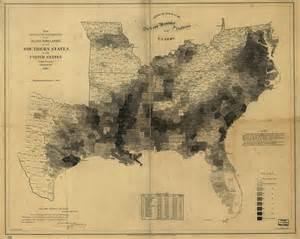 united states map of slavery slavery map