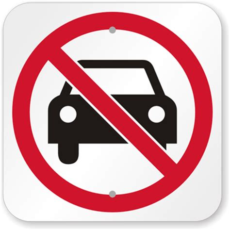 Auto Zeichen by No Automobiles Symbol Sign Sku K 5331