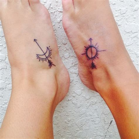 sun and moon best friend tattoos 200 matching best friend tattoos bff 2017 collection
