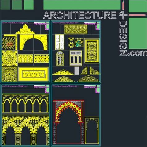 pattern islamic autocad 340 islamic architecture ornament motifs and arches for