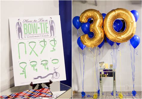 30th Birthday Decorations For Him by A Dapper 30th Birthday Bash Pizzazzerie