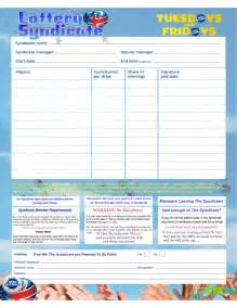 simple lottery syndicate agreement form free download