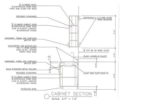 Kitchen Cabinets Details Kitchen Cabinet Section Details Kitchen