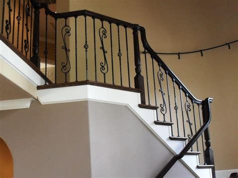 sanding banister spindles like sanding and repainting iron balusters modern home