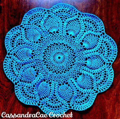 crochet doily patterns pineapple doily crochet pattern craftbnb