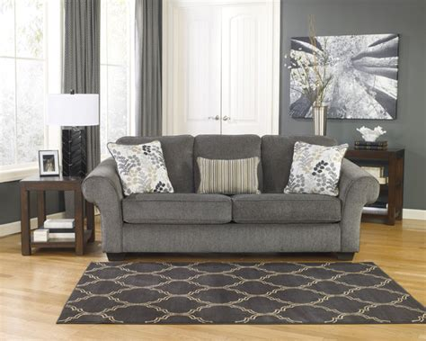 ashley fabric sofa signature design by ashley makonnen charcoal fabric sofa