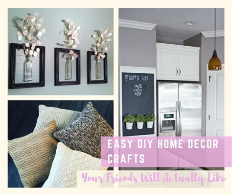 easy diy home decor crafts  friends
