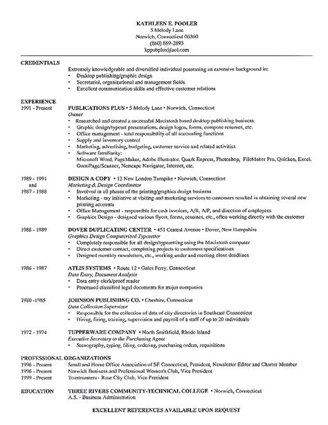Resume Exle With Publications R 233 Sum 233 Sle From Publications Plus