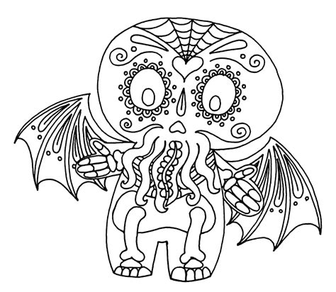 cthulhu coloring book printable coloring pages