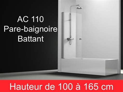 Baignoire 155 Cm De Longueur by Parois De Largeur 60 Pare Baignoire Battant 60 Cm