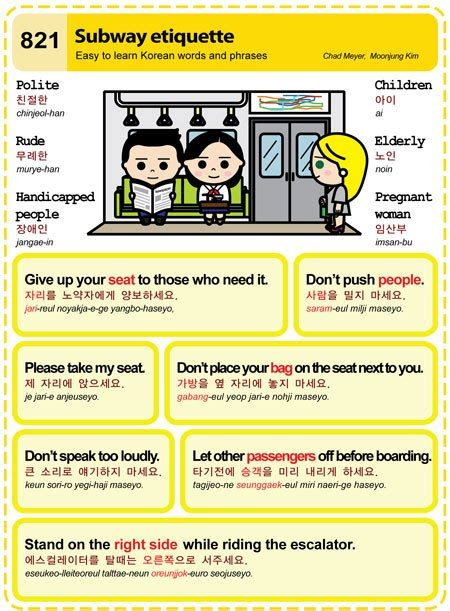 etiquette guide to korea the that make the difference books easy to learn korean 821 subway etiquette easy to