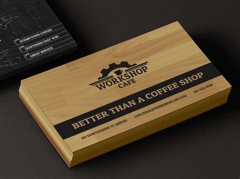 The Gift Card Cafe - workshop cafe business card by laurel j dribbble