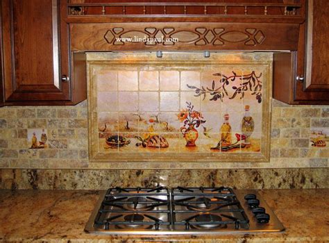 kitchen backsplash tile murals olives tile mural backsplash of olive garden landscape