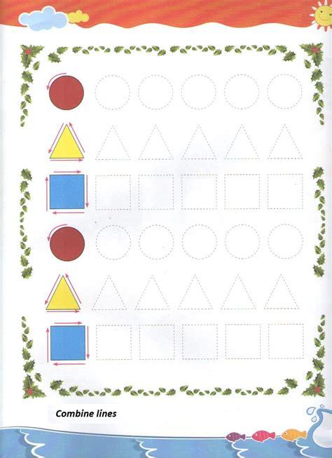 printable preschool art activities tracing shapes worksheet for preschool and kindergarten