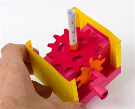 How To Make Paper Gears - mesh gear essential mechanism to and make www