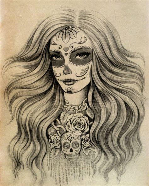 pretty skull tattoo designs sugar skull design