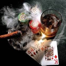 poker whisky and cigar i ll take the whisky at least
