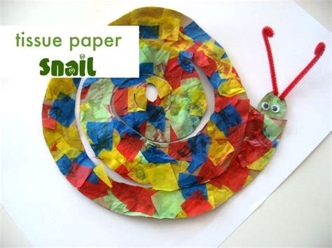 Tissue Paper Arts And Crafts For - the 25 best ideas about snail craft on circle