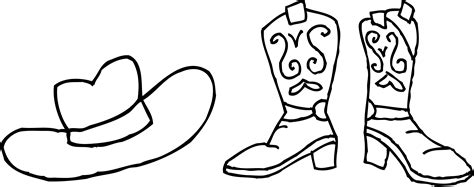 Cowboy Boots Clipart Free Cliparts Co Drawing Of A Cowboy Boot Printable