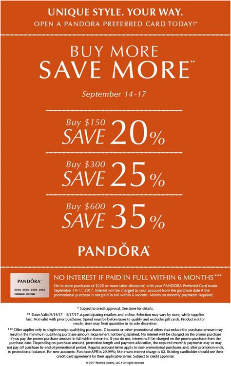 Can I Buy A Pandora Gift Card Online - buy more save more promotion the art of pandora