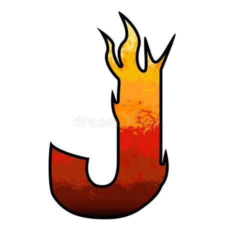 Free Illustration J Letter Alphabet Alphabetically flames alphabet letter j stock illustration illustration