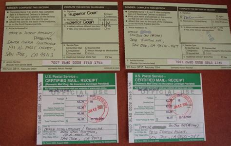 certified mail return receipt template mothercopper fight a traffic ticket in california