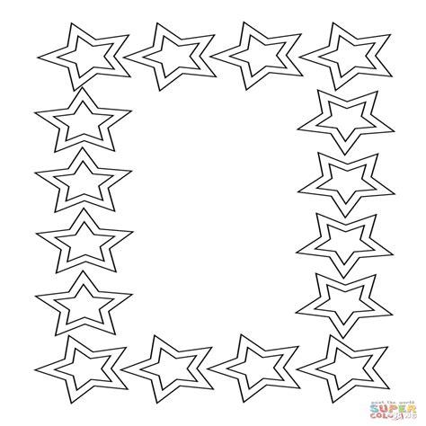 Dibujo De Marco De Estrellas Para Colorear Dibujos Para