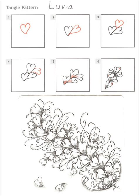 zentangle pattern directions how to draw luv a 171 tanglepatterns com zentangle