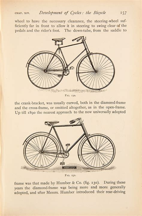 bicycles tricycles an elementary treatise on their design and construction with exles and tables classic reprint books harrington books edition books signed
