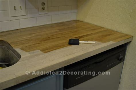 Sealing Butcher Block Countertop by How I Stained Sealed Butcher Block Countertops Diy