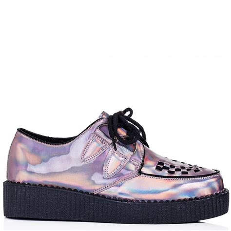 buy lace up platform creeper shoes pink