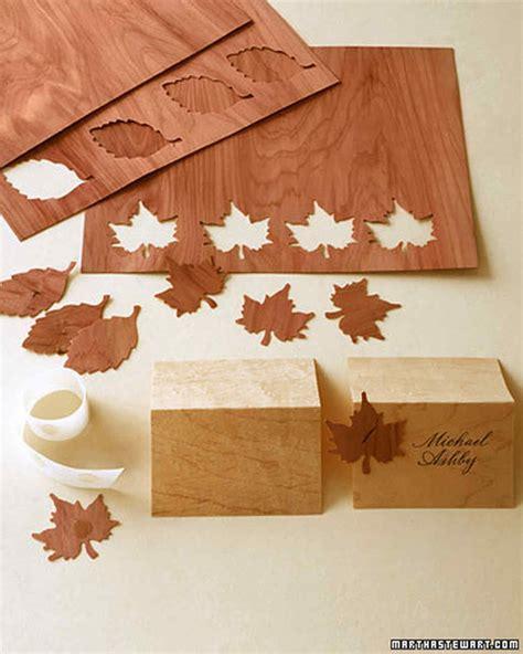 Thin Craft Paper - wooden seating cards martha stewart