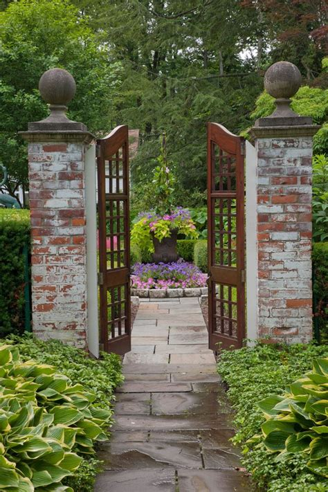 Minimalist Bedding Garden Gate Ideas Exterior Traditional With Wood Gate