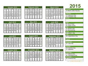 Picture Calendar Template 2015 by Calendar With Holidays 2015 Pictures Images