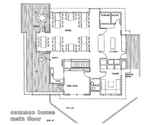 floor plan of house of commons floor plans and exterior view of the common house