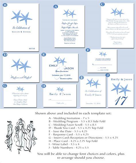 beach wedding invitation card templates ipunya