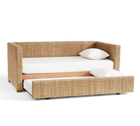 pottery barn trundle bed seagrass daybed with trundle pottery barn