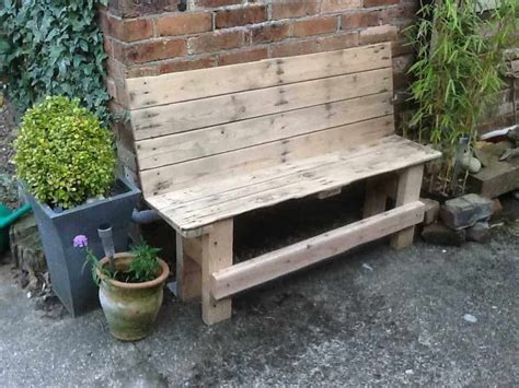 rustic benches from reclaimed pallets 1001 pallets reclaimed pallet outdoor bench 1001 pallets