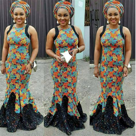 mercy aigbe with ankara styles colorful photos mercy aigbe mide funmi martins femi
