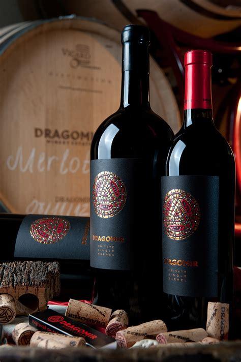 dragomir reserve wine label  classy contemporary design