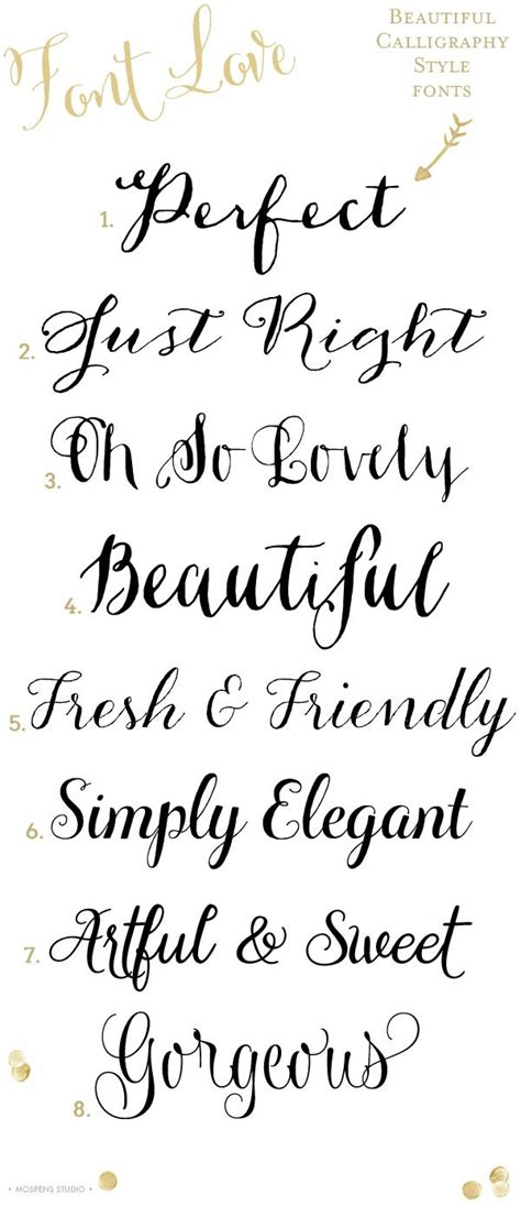8 gorgeous calligraphy style fonts www mospensstudio com