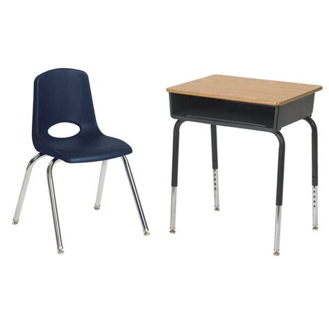 student desk with chair ecr4kids classroom package 6 open front desks 6 chairs